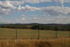 Collines dans la République Tchèque photographie stock