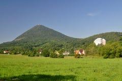 Collines de central de la Bohême de paysage Photo libre de droits