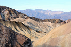 Collines de Death Valley Photos stock