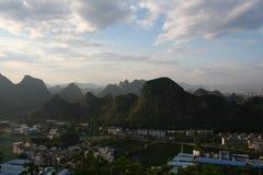 Collines de Guilin Photos stock