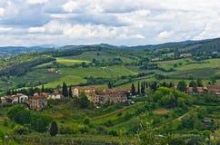 Collines de la Toscane, paysage près de San Gimignano Photo stock