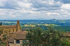 Collines de la Toscane, paysage près de San Gimignano Images stock