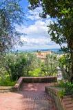Collines de la Toscane, paysage près de San Gimignano Image libre de droits