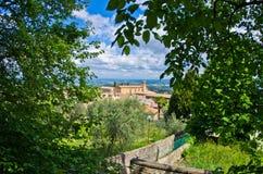 Collines de la Toscane, paysage près de San Gimignano Images libres de droits
