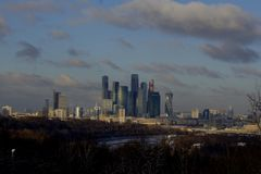 Collines de moineau, Moscou photo stock