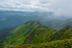 Collines de montagnes carpathiennes photo libre de droits