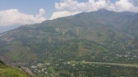 Collines de Muzafarabad Images libres de droits