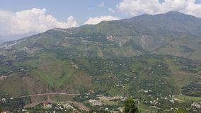 Collines de Muzafarabad Photographie stock