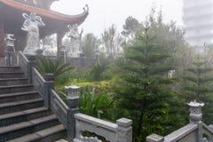 Collines de Na de Ba - Linh Phong Temple Image libre de droits