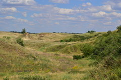 Collines de steppe Photographie stock