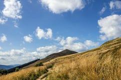 Collines en parc national de Bieszczady en Pologne Images libres de droits