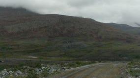 Collines et magma sur un ciel nuageux image libre de droits