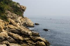 Collines et mer Photo stock