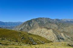 Collines et montagnes, Kadamzhai, Kirghizistan Photo libre de droits
