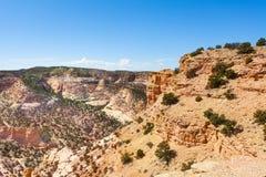 Collines lapidées en canyon Emery County du diable Image stock