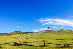 Collines luxuriantes près de monastère d'Amarbayasgalant, Mongolie centrale Photos libres de droits