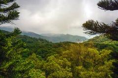 Collines nuageuses vertes Photo libre de droits