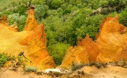 Collines ocres dans le Colorado Provencal Images stock