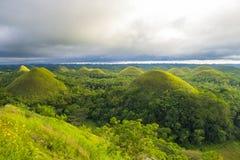 Collines Philippines de chocolat image libre de droits
