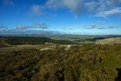 Collines Rothbury le Northumberland de Simonside photo stock