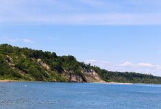 Collines sur des bluffs de Scarborough Photo stock
