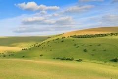 Collines vertes dans le Sussex image libre de droits