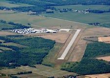 Collingwood-Flughafen, von der Luft Stockbild