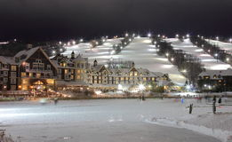Collingwood Hotel and Slopes Under Lights Royalty Free Stock Images