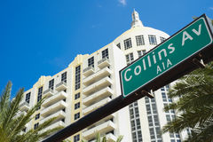 Collins Avenue Royalty Free Stock Photography