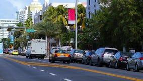 Collins Avenue Miami Beach stock video footage