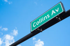 Collins Avenue Stock Images