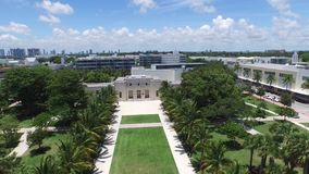 Collins Park Miami Beach aerial video stock video footage