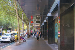 Collins street in Melbourne CBD Stock Photography