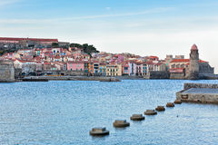 Collioure,法国的南部 免版税库存照片