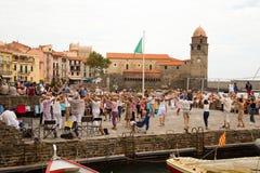 Collioure, франция стоковая фотография