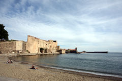 Collioure beach Stock Images
