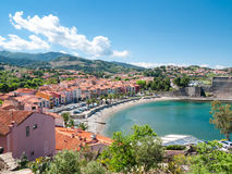 Collioure beach Stock Photography