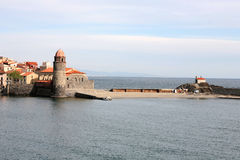 Collioure befästningar Royaltyfri Fotografi