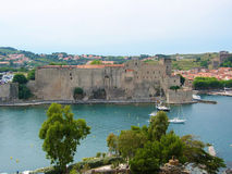Collioure castle Stock Images