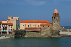 Collioure church royalty free stock image