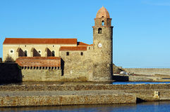 Collioure church in the Roussillon Royalty Free Stock Images
