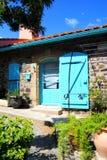collioure, Colliure, klein Frans dorp met een vesting in een zonnige dag van de zomer stock afbeeldingen