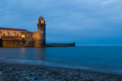 Twilight in Collioure Stock Photos
