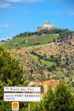Collioure con el santo-Elme del fuerte, Francia meridional Fotografía de archivo libre de regalías