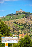 Collioure with the Fort Saint-Elme, Southern France Royalty Free Stock Photography