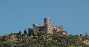 Collioure, Francja Fort Świątobliwy Elme W Pogodnym wiosna dniu Stary Średniowieczny Forteczny święty Jest Militarnym fortem zdjęcie wideo