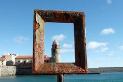 Collioure harbor Stock Photo