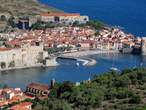 Collioure harbour royalty free stock photography