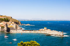 Collioure harbour Stock Images