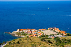 Collioure harbour, Languedoc-Roussillon, France, french catalan coast Stock Images
